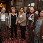 Faculty with Dr. Ruth Chen at Chancellor's House