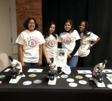 WiSE Women of Color in STEM participants volunteering